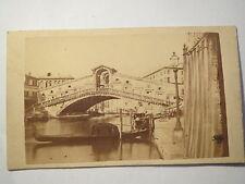 Venedig - Rialtobrücke - ca. 1870/80er - CDV Ponte di Rialto