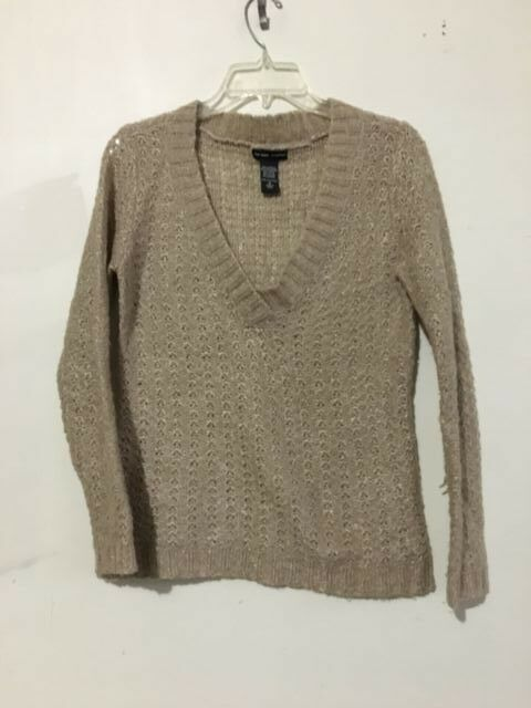 New York & Co Mohair Wool Blend Tan Knit Size S Sweater Women