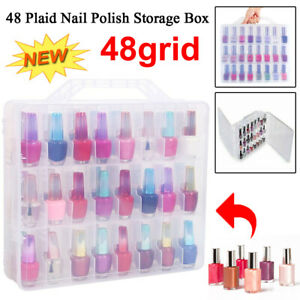 48-Lattice-Nail-Polish-Holder-Display-Container-Case-Clear-Organizer-Storage-Box