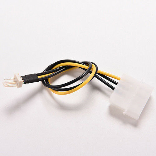 5Pcs 4-Pin Molex//IDE to 3-Pin CPU Case Fan Power Connector Cable Adapter