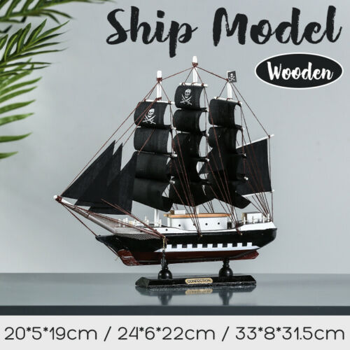 Completed DIY Wooden Assembly Ship Model Kit Sailboat Toy Boat Scale Wood
