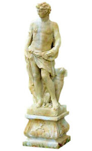 Apollo The Huntur With Dog Ancient Greek God Garden Statue