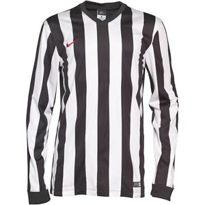 on sale 4c131 05269 Details about NIKE KIDS BOYS BLACK WHITE STRIPED LONG SLEEVE JUVENTUS  FOOTBALL SHIRT TOP