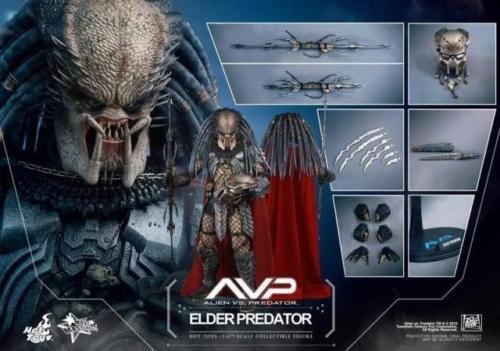 Hot Toys HT 1 6 MMS325 AVP Elder Predator 2.0 35cm Figure Doll Full Set