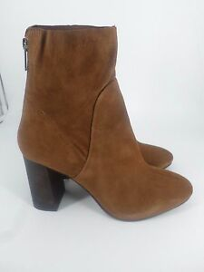 Next-Tan-Real-Suede-Casual-Ankle-Zip-Up-Boots-rrp-55-UK-7-EU-41-LG07-95