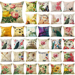 Flower-Printi-18inch-Pillow-Case-Cover-Sofa-Couch-Cushion-Cover-Home-Decor-Gift