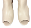 thumbnail 7 - Womens Ladies Beige Faux Leather High Heel Peep Toe Sandals Shoes Size UK 3 New
