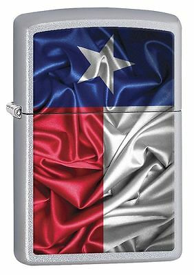 "Zippo ""Flag-State of Texas"" Street Chrome Lighter, Full Size,  7139"
