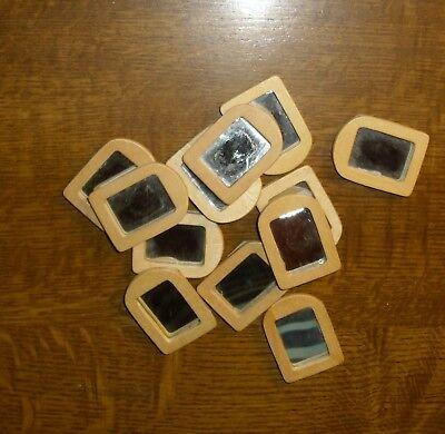 12 Piccole In Legno Specchio-miniatura Casa Delle Bambole-mostra Il Titolo Originale
