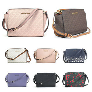 favorable price sneakers for cheap get new Details about New Michael Kors Selma Medium Messenger Crossbody Purse