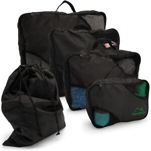 88b29abd3ba1 Détails sur 5 pcs emballage cubes set de voyage bagages organisateur zip  vêtements sac de rangement pochette- afficher le titre d'origine