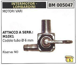 Rubinetto carburante INTERMOTOR LOMBARDINI motori vari 005047