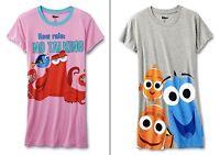 Finding Dory Womens Plus Size 1x-3x Sleep Shirt Nightgown Pajama Top Nemo Disney