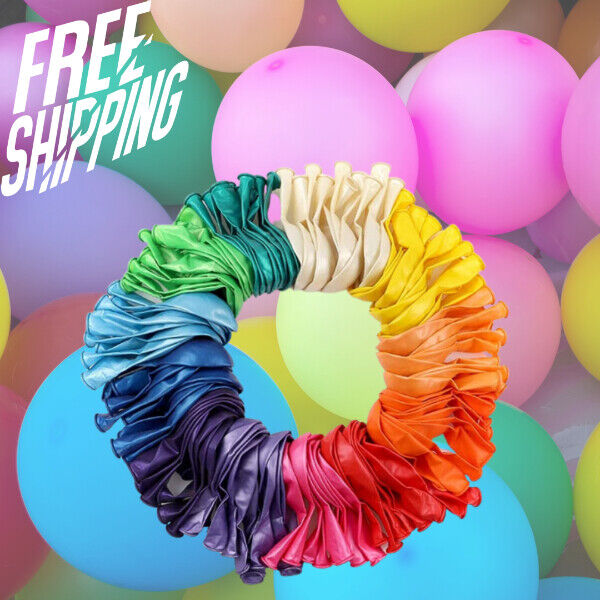 120 Assorted Color Balloons 12 Inches 12 Kinds of Rainbow Party Latex Balloons