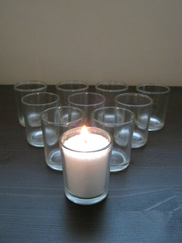 24 Pack Clear Glass Votive Tea Light Candle Holders Wedding Party Gift Idea