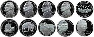 2000-2007-S-Complete-Set-Jefferson-Nickel-Gem-Proof-Run-10-Coins-US-Mint-2000-039-s
