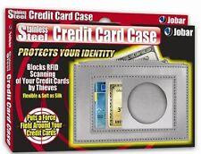 Stainless Steel Credit Card Case RFID Blocking Scanning Wallet Protection Slim