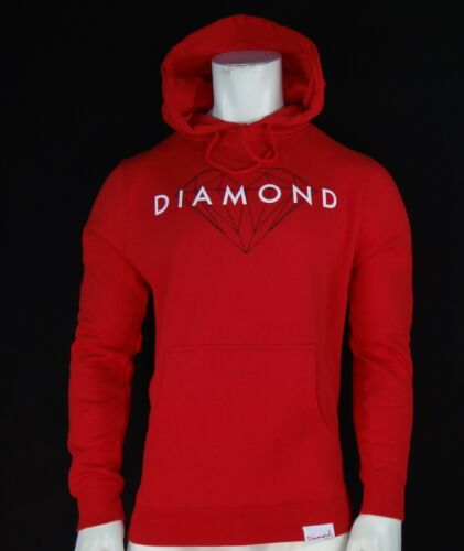 BRILLIANT SCRIPT RED MENS PULLOVER HOODIE RMHD-196 NEW DIAMOND SUPPLY CO