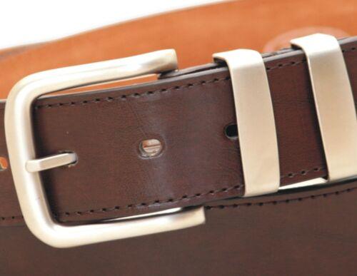 Ossi ® Negro Marrón Bronceado Para Hombre De Cuero Forrados Con Cinturón Jeans 38mm con caja de regalo opción