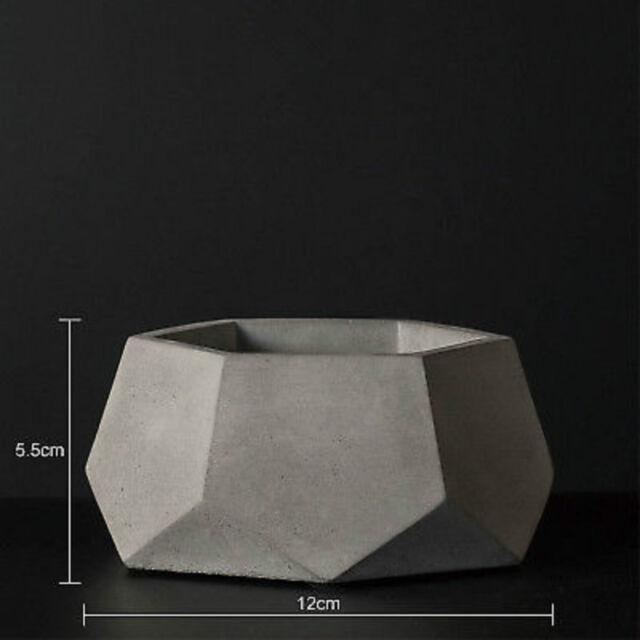 Cement Pot Mold for cactus plants Concrete flower vase silicone mold