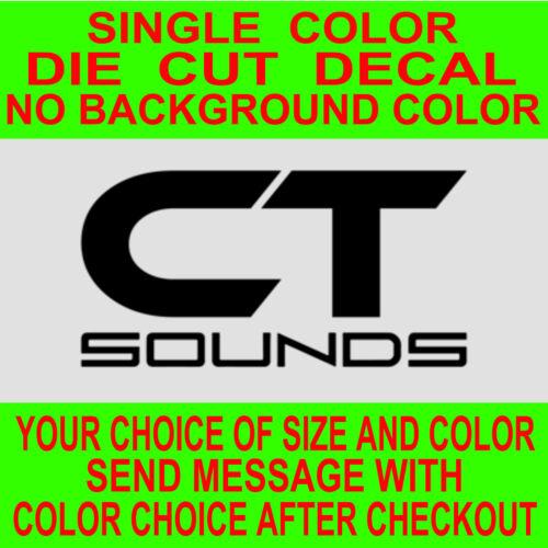CT Sounds Car Audio Die Cut Vinyl Decal Car Truck Window Laptop Sticker