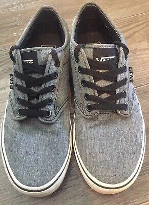 Vans Atwood Gray Canvas Skate Shoes 7.5 Men | eBay