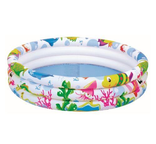 """42/"""" Enfants Gonflable Jardin 3 Ring Sea World Piscine Natation Outdoor Fun gonflable"""