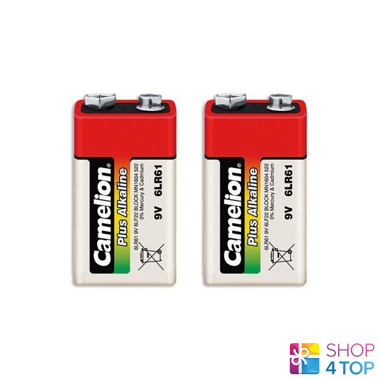 2 camelion 9v alkaline battery long life 6f22 700mah Exp 2025 1t new