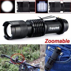 Flashlight-2000-Lumens-CREE-Q5-LED-Torch-AA-14500-Adjustable-Zoom-Focus-Torch