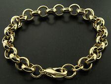 Luxury Belcher Bracelet - 24 k Gold filled - Men's - 10mm, Solid Bling