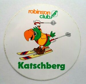 Souvenir-Aufkleber Katschberg Robinson Club Pass Carinthia Salzburg Austria 80s