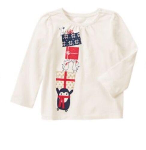 Gymboree Girls Hoho Shop Penguin Winter Gift shirt Holiday Christmas Nwt 18-24 M