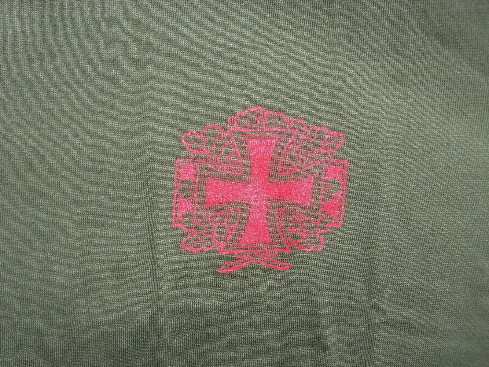 OFFICIAL DER blueTHARSCH ISRAEL THE EASTERN FRONT T-SHIRT 2004 RED ON KHAKI S XL