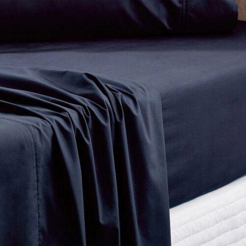 Sheridan Everyday Cotton 250 Tc Fitted Sheet Navy
