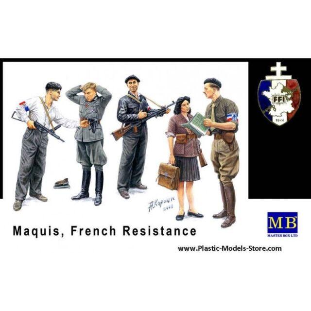 MAQUIS, FRENCH RESISTANCE + CIVILIANS 1/35 MASTER BOX 3551 DE