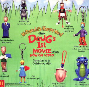 MCDONALD-039-S-VINTAGE-1999-DOUG-039-S-FIRST-MOVIE-COMPLETE-SET-OF-8-3-HAPPY-MEAL-BAGS