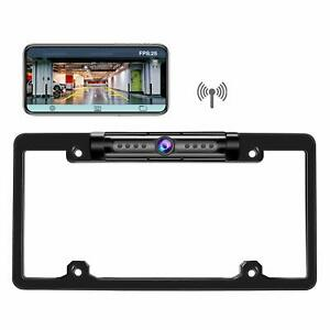 Details about Digital Wireless Car Rear View Backup License Plate Frame  Camera For IOS Android