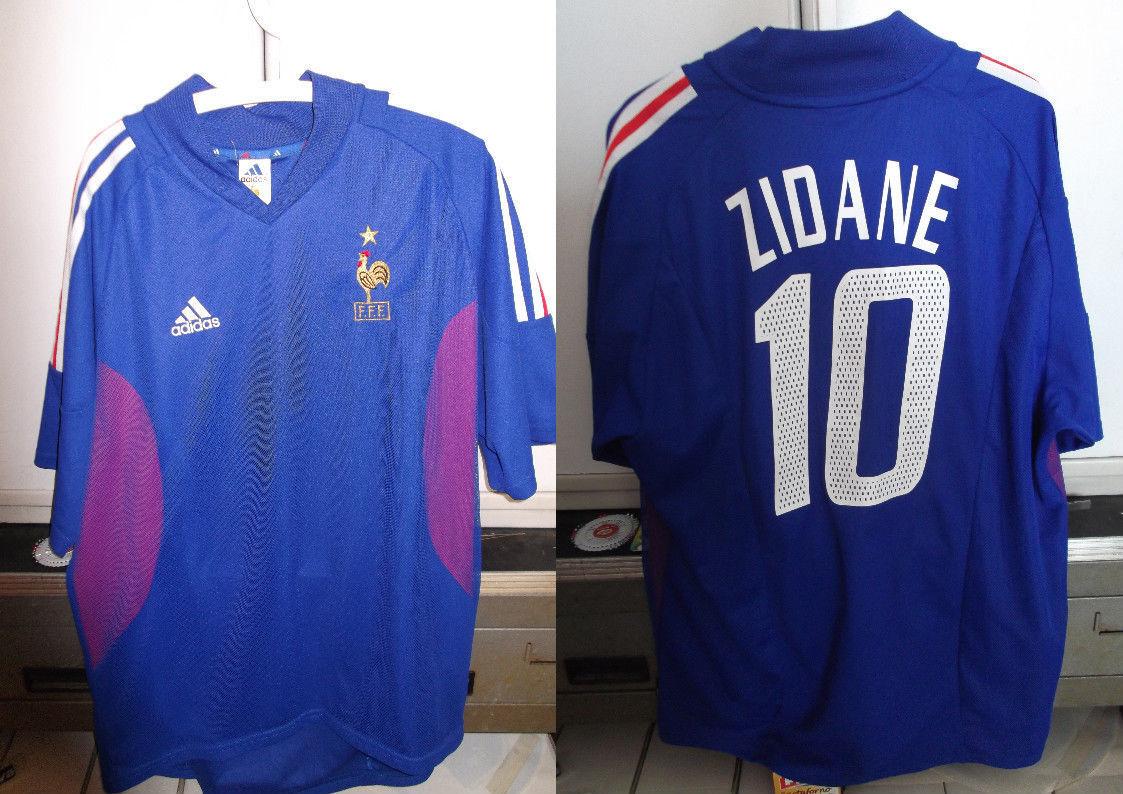 Maglia shirt francia zidane nr 10 calcio adidas XL ottima