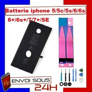 Batterie-iPhone-5-5c-5s-5-SE-6-6s-6-6s-7-7-8-8-plus-Neuve-0-Cycle-adhesif