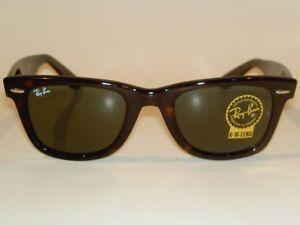 b3bd7d0a33aea New RAY BAN Original WAYFARER Sunglasses Tortoise RB 2140F 902 G-15 ...