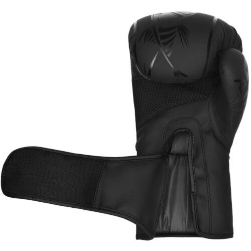 4Fit Xlite Black Matte Finish Gel Boxing Training MMA Muay Thai punching Gloves