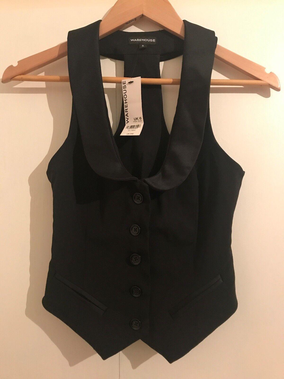 Warehouse black waistcoat Size 6
