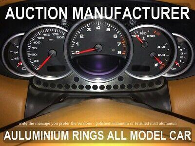 Fits Porsche 911  996  1998-2005  Dash Dashboard Gauge Chrome Rings Bezel Tuning