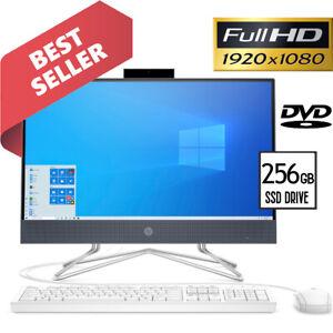 "HP All-in-One Computer 22"" Full-HD Display Intel 3.20GHz 4GB 256GB SSD Drive BT"