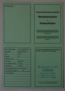 simson duo abe betriebserlaubnis fba brandis mot krankenfhrzg ddr kta no 930