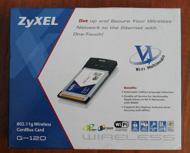 ZyXEL G-120 WLAN Driver for Windows 10