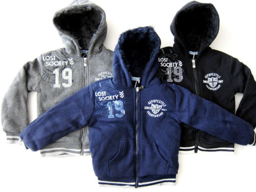 13 Years BNWT Boys New Very Warm Fury Lined Zipped Hoodie Ages 2 Years