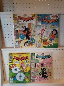 Marvel-Star-Comics-Popples-Comic-Book-lot-of-4-COMPLETE-SET-1-4
