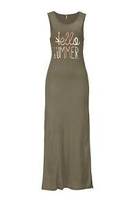 Details zu Kleid Maxi Kleid ONLY khaki grün lang Gr 8 8 8