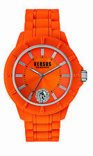 Versus By Versace Women's SOY100016 TOKYO R Orange Dial Orange Silicone Watch